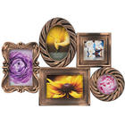 5 Opening Antique Gold Collage Frame