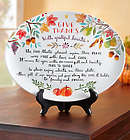 Give Thanks with Grateful Hearts Thanksgiving Plate