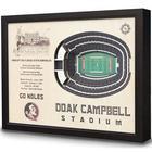 Florida State Doak Campbell Stadium 3D View Wall Art