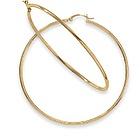 14kt Gold Large Hoop Earrings