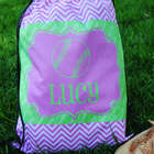 Personalized Softball Drawstring Tote