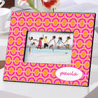 Personalized Pink Links Color Bright Picture Frame