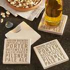 Personalized Beer Types Bottle Opening Coasters