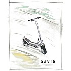 Silver Scooter Watercolor Fine Art Print