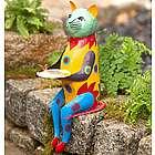 Colorful Metal Cat Sculpture