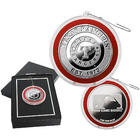 Texas Rangers Silver Plated Coin Ornament