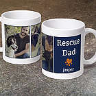 Rescue Dad Pet Love's Photo Mug