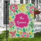 Personalized Butterflies and Flowers Garden Flag