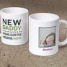 New Daddy Custom Photo Mug