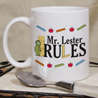 Personalized Teacher Rules Coffee Mug