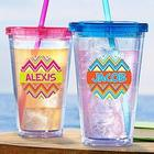 Personalized Sun-Kissed Chevron Tumbler