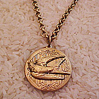 Flying Bird Locket Necklace