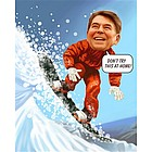Snow Boarding Caricature from Photos
