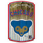 Chicago Cubs Cooperstown Cubby Bear Sign