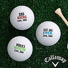 Best Dad Ever Personalized Golf Ball Set