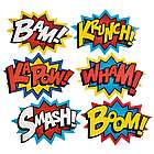 Jumbo Superhero Word Cutout Wall Decorations