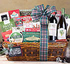 Red and White Wine Holiday Delight Gift Basket