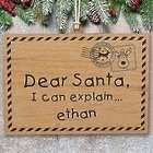 Personalized Dear Santa Wood Cut Ornament