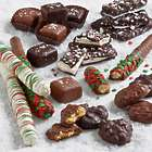 Christmas Caramel Candies and Chocolate-Covered Pretzels