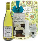 Happy Birthday with Cupcakes and Wine Gift Set