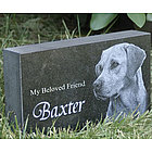 Personalized Photo Pet Memorial in Granite