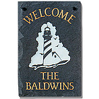 Personalized Lighthouse Slate Sign