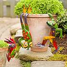 Metal Frog Flower Pot Huggers