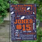 Football Word Art Garden Flag