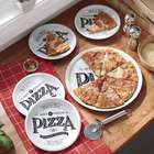 Pizza Plates, Serving Dish, and Cutter