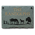 Personalized Mare and Colt Slate Sign