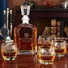 Personalized Wax Seal Argos Decanter Set with Uptown Glasses
