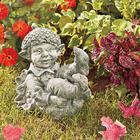 Hand-Cast Stone Acorn Pixie Garden Statue