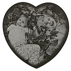 Personalized Heart Marble Photo Plaque