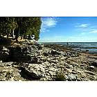 Rocks at Cedar Point Door County Photographic Print