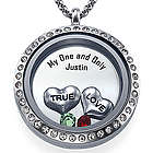 Personalized True Love Floating Necklace