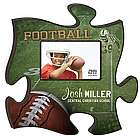 Personalized Football Puzzle Piece Photo Frame