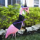Witch Flamingo Yard Stake