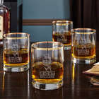 4 Reagan Right Gold Rim Old Fashioned Glasses