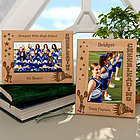Personalized Cheerleading Wooden Picture Frame