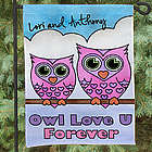 "Personalized ""Owl Love U Forever"" Garden Flag"