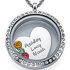 Personalized A Mother's Love Floating Locket Necklace