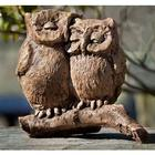 Cast Stone Honeymoon Owls Garden Statue