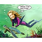 Seabed Swimming Caricature from Photos
