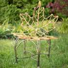 Maple Leaf Metal Outdoor Chair