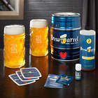 Brew Barrel Beer Making Kit and Personalized Oktoberfest Steins