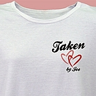 I'm Taken Personalized Scoop Neck T-Shirt