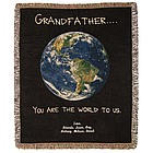 Personalized Grandfather Tapestry Throw