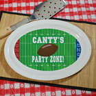 Football Party Zone Personalized Platter