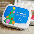 Personalized Holiday Mints Favor Tins