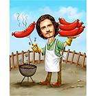 Wiener Roast Caricature from Photos